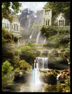 "Matte-Painting ""Rivendell"" by Forum-Toshop.deviantart.com on @deviantART"