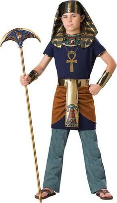 Show who is boss is this Pharaoh Child Costume. This listing includes: Tunic, Apron, Headpiece. Does not include: Shirt, Pants, Shoes. Sizes available: Sma