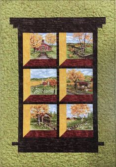 House Quilt Patterns, Quilt Block Patterns, Quilt Blocks, Quilting Projects, Quilting Designs, Quilt Design, Quilting Ideas, Scandinavian Quilts, Fabric Panel Quilts