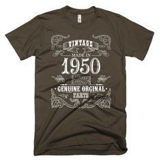 Men's Born in 1950 - 67 years old Aged to perfection T-Shirt  Check it also : https://www.teezily.com/just-becoming-a-classic-tshirt