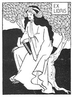 Ex Libris by Aubrey Beardsley icons (Kwanzannukas gifts!) blanks
