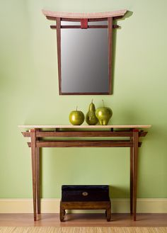 Torii Mirror and Table by Bayley Wharton (Wood Furniture) | Artful Home
