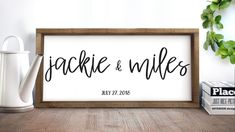 Custom Wood Family Name Sign, Framed Wooden Family Name Sign, Personalized Family Name Sign, Personalized Wedding Gift, Fast Shipping Wooden Family Name Sign, Family Name Signs, Wooden Wedding Signs, Wooden Signs, Rustic Wedding, Decor Wedding, Quirky Wedding, Wedding Ideas, Housewarming Gifts