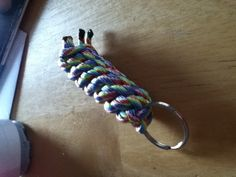 Rainbow para cord key chain!