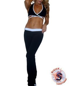 Brazilian Fitness Wear Workout Clothing: Waistband Pants & Front Criss Cross Top Set by Sickk Junctions. $70.50. Very cute outfit, the top is criss cross at the front with a long white binding that can be tied at the back. Comes with Suplex pants with white waistband. Great for any kind of work out, at the gym, outdoors, your Yoga class or dance workout! ***MAKE SURE TO SEND US A MESSAGE AFTER PURCHASE SPECIFYING SIZE WANTED! (FOR BOTH TOP AND BOTTOM) CHECK OUR SIZE CHART IN AD...