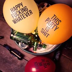 Balloons. What's the f*cking point? On the one hand they're synonymous with the good times - playfully batted around the dance floor, flanking an extravagant table of hors d'oeuvres or taped to the garden gate to symbolise there's a