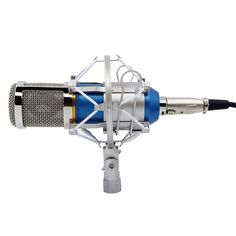 Blue Studio Recording Condenser Microphone with Shock Mount Holder Clip for Radio Broadcasting Studio, Voice-Over Sound Studio, Home Recording, Gaming and Video Chat