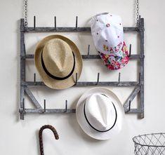 Small antique metal wall rack #hatrack #walldecor #vintagedecor #antiques #hooks