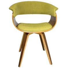 Cadeira C/Bçs Pés/Enc Vergs Tecido Verde 27036 Fullway