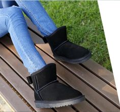 Chic Women Non-Slip Keep Warm Bowknot Winter Flat Casual Ankle Riding Boots Size