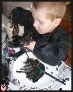 sensory seeking with paint and water