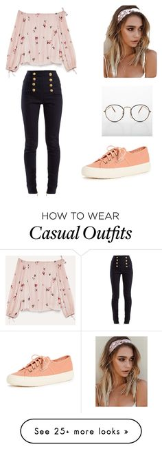 """""""casual life"""" by chrissyorellana on Polyvore featuring Balmain, Superga and CoffeeDate"""