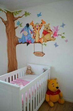 Super Baby Room Pictures Winnie The Pooh 64 Ideas Baby Nursery Decor, Baby Bedroom, Baby Boy Rooms, Nursery Themes, Kids Bedroom, Room Baby, Baby Decor, Nursery Room, Girl Nursery