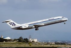 Aviaco, McDonnell Douglas DC-9-34, Palma de Mallorca (San Juan) (LESJ) Spain, October 1996 by Toni Marimon