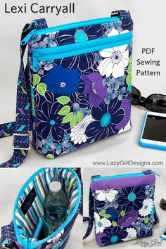 Outstanding 30 Sewing tutorials tips are offered on our site. Take a look and you wont be sorry you did. Bag Sewing Pattern, Bag Patterns To Sew, Sewing Patterns Free, Free Sewing, Free Pattern, Cross Body Purse Patterns Free, Quilted Purse Patterns, Handbag Patterns, Quilted Bag