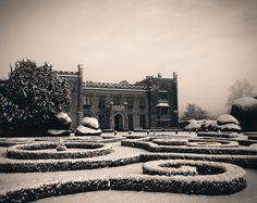 The placid grandeur of Elvaston Castle in the snow