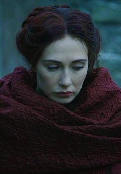 Melisandre-. I just love her in this season. She is the most complicated character ever. She always thought she had to carry the weight of the world on her own, but just now she is realizing she has done some pretty bad things along the way