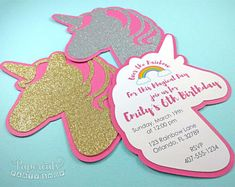 Image result for unicorn invitation diy
