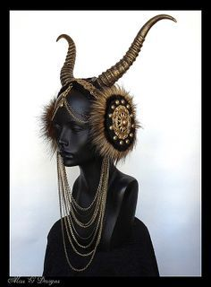 goat horn headdress - Google Search