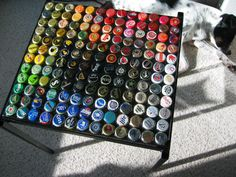 The Art of Drinking Beer...  I guess we will have to do this with all of those extra bottlecaps.  :)