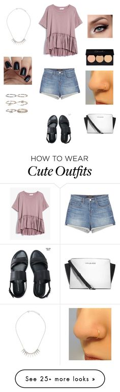 """""""Cute summer outfits"""" by princessrena on Polyvore featuring Aéropostale, Forever 21, Boohoo, Michael Kors and J Brand"""