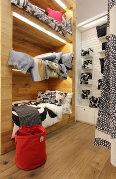 Articles about collection/shopping on Apartment Therapy, a lifestyle and interior design community with tips and expert advice on creating happy, healthy homes for everyone. Fabric Display, Bold Stripes, Marimekko, Fashion Company, Apartment Therapy, Simple Style, Shoe Rack, Home Furnishings, Printing On Fabric
