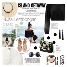 """""""Chic Island Getaway // YOINS"""" by leniastuti ❤ liked on Polyvore featuring Yves Saint Laurent, Kenneth Jay Lane, Rochas, yoins, yoinscollection and loveyoins"""
