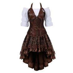 Steampunk Corset Dress, Leather Corset, Steampunk Clothing, Pirate Corset, Steampunk Outfits, Steampunk Fashion Women, Pirate Dress, Pirate Cosplay, Pirate Fashion