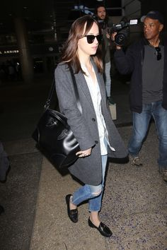 Dakota Johnson's New Airport Bag Is the Perfect First-Class Companion