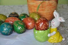 traditional polish easter eggs - pisanki