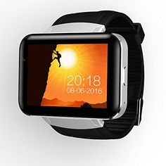 DM98 Bluetooth Android Smart Watch Front Camera Dual Core Smartwatch WIFI GPS SIM for Android 4.4 and IOS Smartphone Wearable Tracker (Silver)   Specifications: Color: Jazz Black, Gentle Silver Device Size: L260mm, W59mm,H12mm Chipset: MT6572A Dual Core, 1.2G Storage: RAM 5