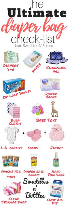 Wondering what to pack in your diaper bag? Here's the ultimate packing list! Save for later or read now!