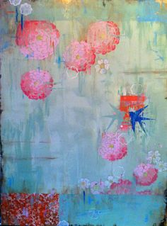 """Kathe Fraga paintings, inspired by the romance of vintage Paris and Chinoiserie Ancienne.  """"Garden Dance"""", 48x36 on frescoed canvas. www.lathefraga.com"""