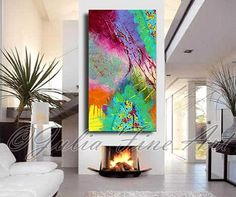 Colorful Abstract Painting Large print on by JuliaApostolova
