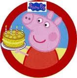 Peppa pig party plate