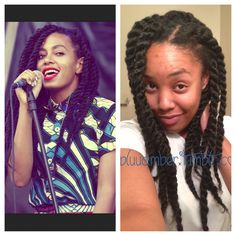 bluuamber:  I like Solange and the image she perpetuates…   BUT, my marley twists look way better!   I'm sure she didn't spend an hour in the mirror doing them herself with $25 worth of toyokalon hair....