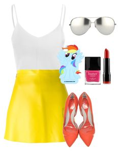 """""""#pony"""" by hollybeanrocks ❤ liked on Polyvore featuring Glamorous, MSGM, McQ by Alexander McQueen, Butter London, Linda Farrow and NYX"""