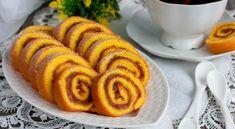 Piskótatekercs készítése Onion Rings, Goodies, Ethnic Recipes, Food, Beautiful, Sweet Like Candy, Gummi Candy, Essen, Meals