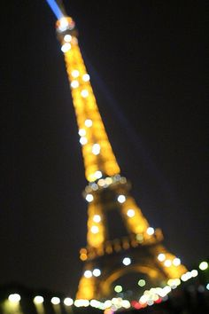 The Eiffel Tower sparkles at night!