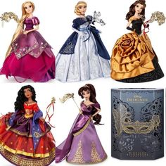 New Disney Limited Edition Designer Collection dolls - Midnight Masquerade Series 2019 Source by ste Disney Collector Dolls, Disney Barbie Dolls, Disney Animator Doll, Disney Princess Outfits, Disney Princess Dolls, Princess Art, Disney Cosplay, Traje Jedi, Pinturas Disney