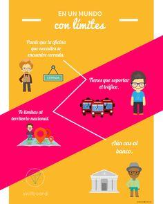 """Infografía """"En un mundo con límites"""". El mundo cambió, entra a www.skillboard.co. #nolimits"""