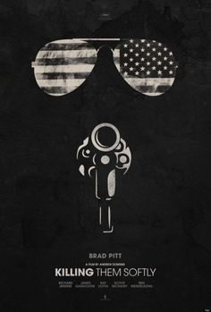 Thought the gun was also supposed to be a gas mask, but since it's about a gangster probably not...it's an interesting poster either way. [ Killing Them Softly ]