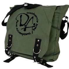 Harry Potter Dumbledore's Army – Army Green Backpack. Fabric:Thick cotton canvas. 14 x 12 x 4.5 inches.