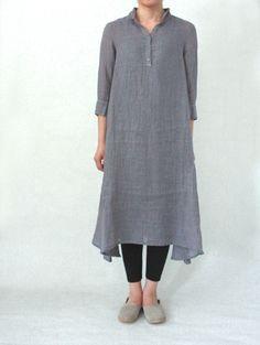 Minimalist fashion (via evam eva/商品詳細 voile linen shirt one-piece)