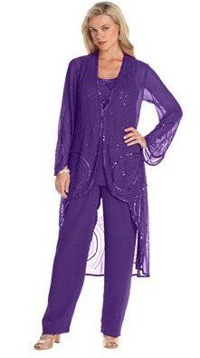 Plus size formal womens pant suits