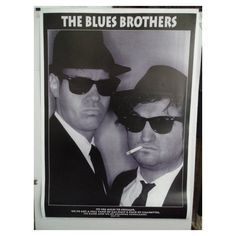 The Blues Brothers Vintage 90's Poster ($60) ❤ liked on Polyvore featuring home, home decor, wall art, blue home decor, blue home accessories, vintage posters, vintage home accessories and vintage wall art