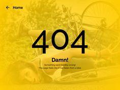 DailyUI - #008 404 Page by Alexander Rukin