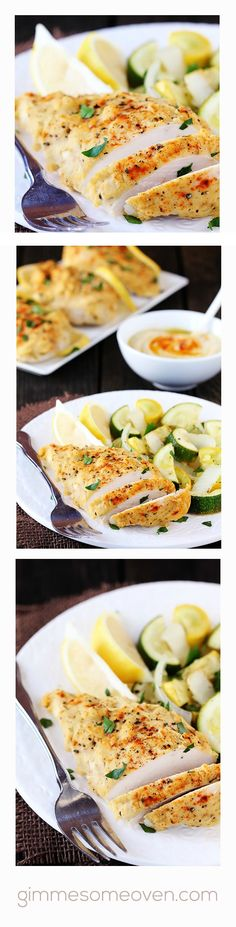 Hummus-Crusted Chicken | a 30 minuteish meal that was easy to prepare, tasty and healthy! Its so hard for me to find chicken breast recipes that don't come out dry. This chicken came out moist. It helped that the chicken I used weren't too thick.