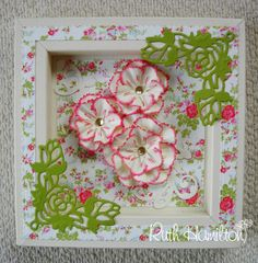 A Passion For Cards: Floral frame Shadow Frame, Shadow Box, Quilling Flowers, Paper Flowers, Tonic Cards, Craftwork Cards, Easel Cards, Die Cut Cards, Carnations
