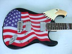 Eagle, Stars & Stripes Electric Guitar